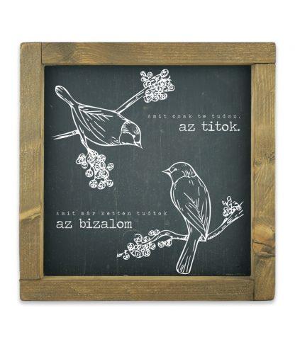 keretes kreta tabla fekete szerelmes madarak