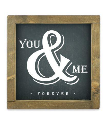 keretes kreta tabla fekete you and me forever