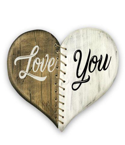 varrt antik sziv ket szinben love you