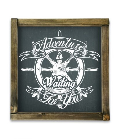 adventure is waiting for you keretes fatabla fekete alap