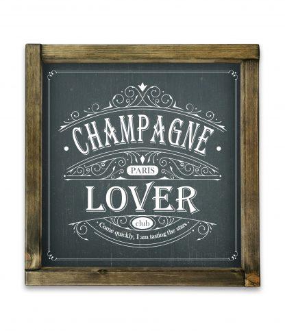 champagne lover club black