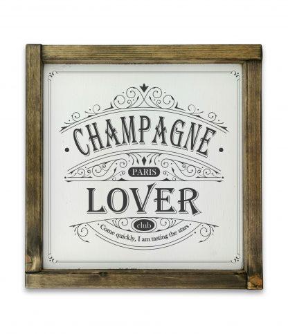 champagne lover club white