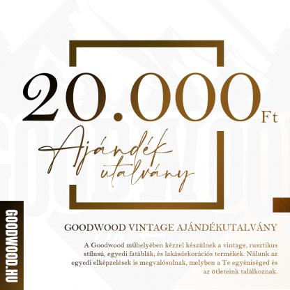 Goodwood Vintage Ajándékutalvány - 20.000 Ft