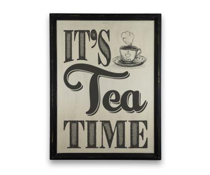 its tea time a4 fekete keretes