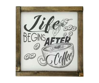 life begins after coffee 4 feher kreta