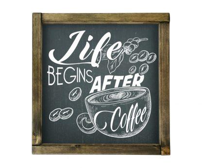 life begins after coffee 4 fekete kreta