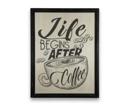 life begins after coffee fekete keretes