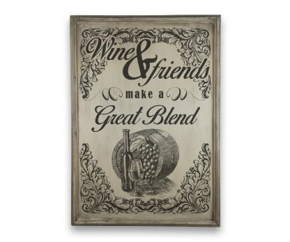 wine and friends make a great blend ivory white