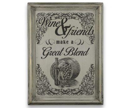 wine and friends make a great blend sz├╝rke