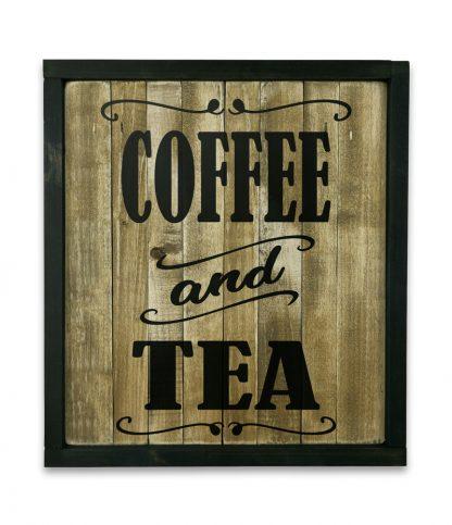 fekete keretes natur deszkatabla coffee and tea