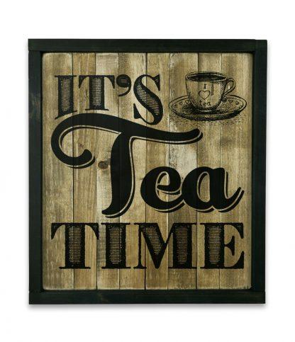 fekete keretes natur deszkatabla its tea time