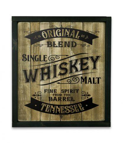 fekete keretes natur deszkatabla whiskey