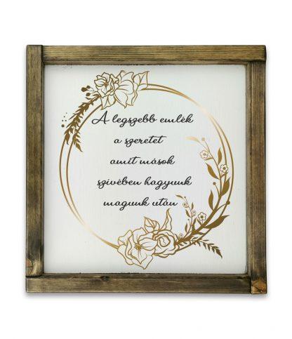goodwood vintage ballagas a legszebb emlek arany tolgy keretes feher fatabla