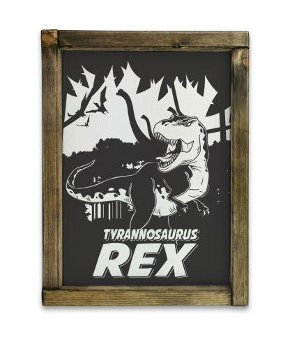 goodwood vintage tyrannosaurus rex tolgy keretes feher tabla