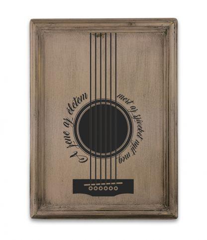 gitar plakat a zene az eletem vintage rozsaszin