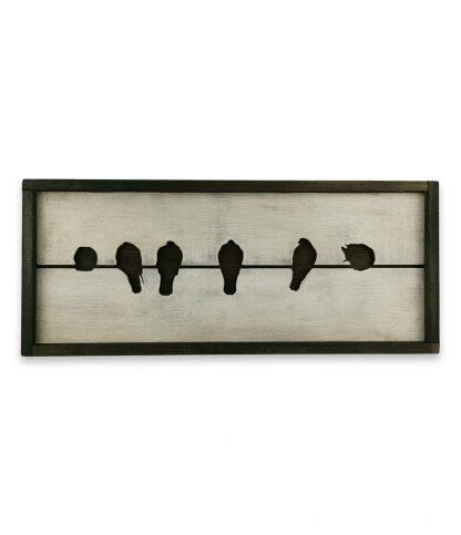 madarak poznan vintage deszkatabla 3d sziluettel