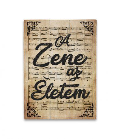 zene Bach Cantata a zene az eletem termek regi papir deszkatabla