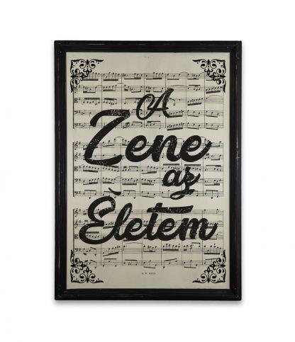 zene Bach Cantata a zene az eletem vintage fekete keret