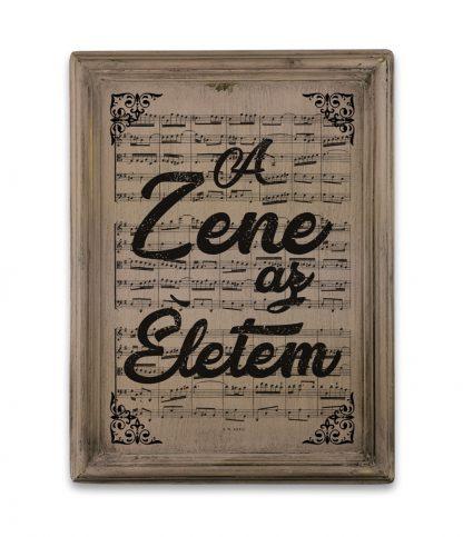 zene Bach Cantata a zene az eletem vintage rozsaszin