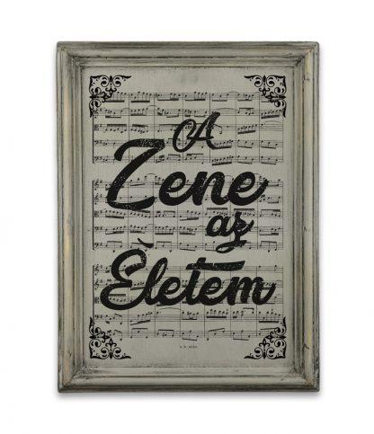 zene Bach Cantata a zene az eletem vintage szurke