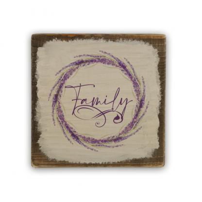 2 Family Levendulakoszorus vintage deszka tabla