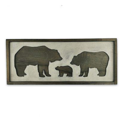 Medve csalad 3D Vintage deszkatabla