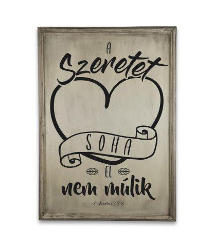 a szeretet soha el nem mulik ivory white
