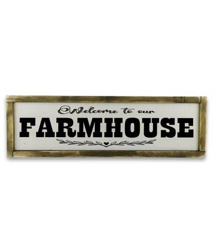 welcome to our farmhouse Vintage feher fatabla rusztikus kerettel