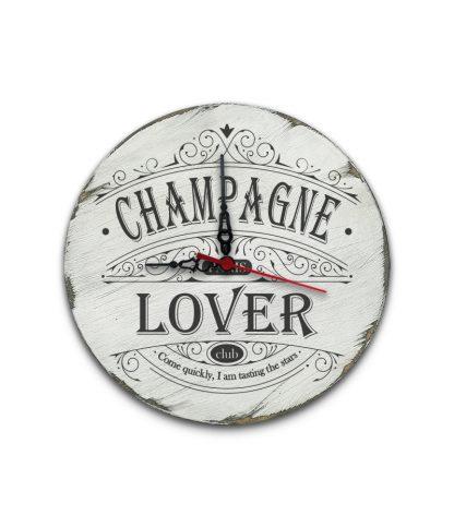 champagne lover club paris koptatott feher vintage kor tabla ora