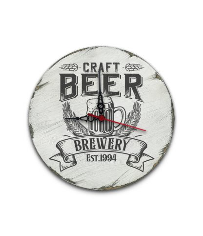 craft beer brewery koptatott feher vintage kor tabla ora