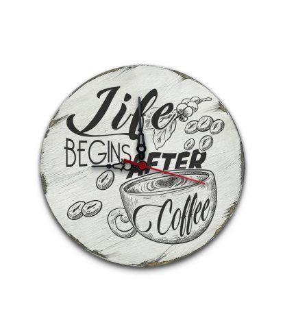 life begins after coffee koptatott feher vintage kor tabla ora