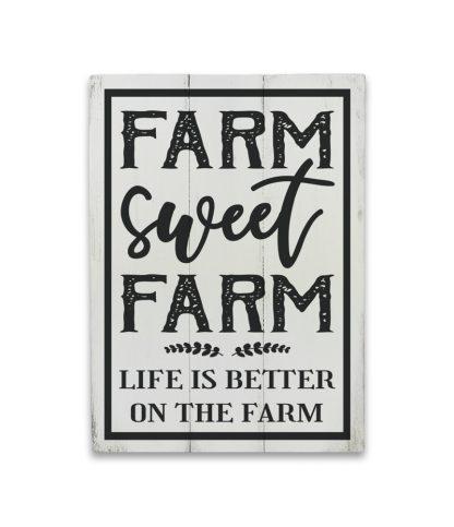 farm sweet farm feher deszkatabla