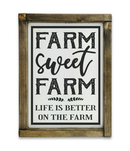 farm sweet farm tolgy keret feher