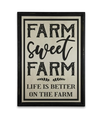 farm sweet farm vintage fekete keret