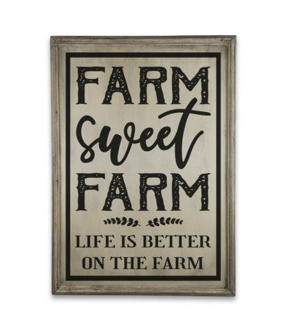 farm sweet farm vintage ivory white
