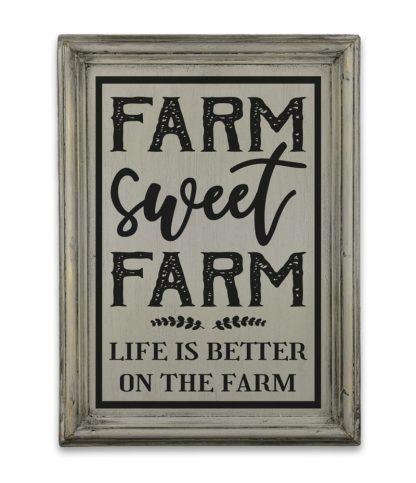 farm sweet farm vintage szurke